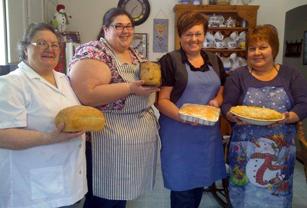 Learning new baking & cooking skills in the Community Kitchen program.