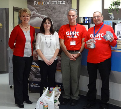 Receiving Donation from Blackville Credit Union